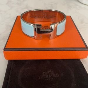 Authentic Hermès clic H bracelet wide